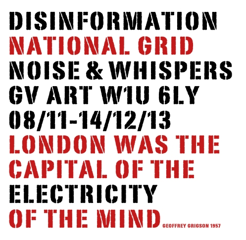 "GV Art - Noise & Whispers - Disinformation ""National Grid"""