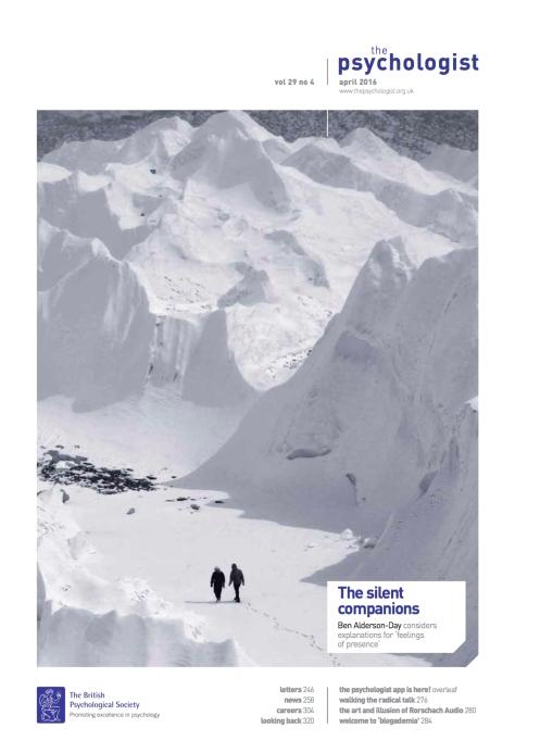 The Psychologist Vol 29 No 4 April 2016