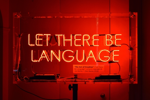 Let There Be Language - copyright © Joe Banks + Zata Banks
